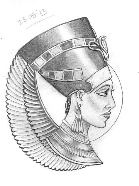 queen nefertiti tattoo designs tattoo sketch a day august 2013