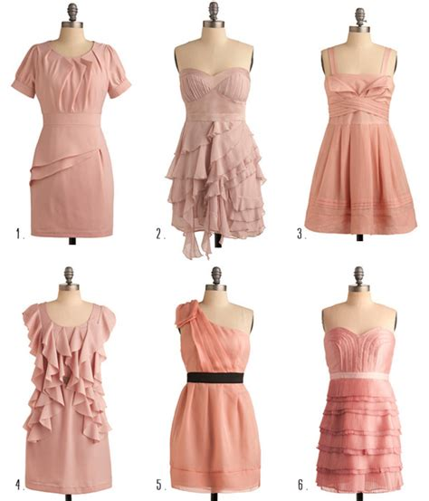 Vintage Bridesmaid Dress by Vintage Pink Bridesmaid Dresses Ruffled
