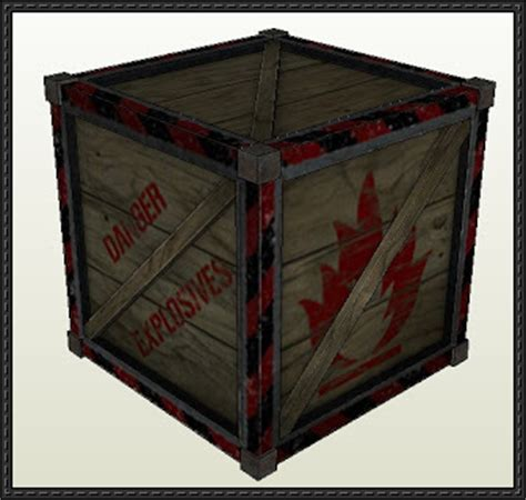 Paper Craft Square - new paper model black mesa explosive crate free paper