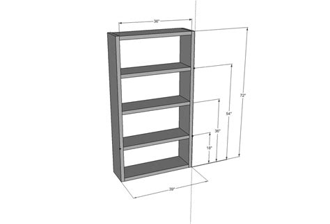bookcase dimensions reloc homes