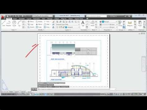 autocad layout add autocad 2013 tutorial how to add a border to your page
