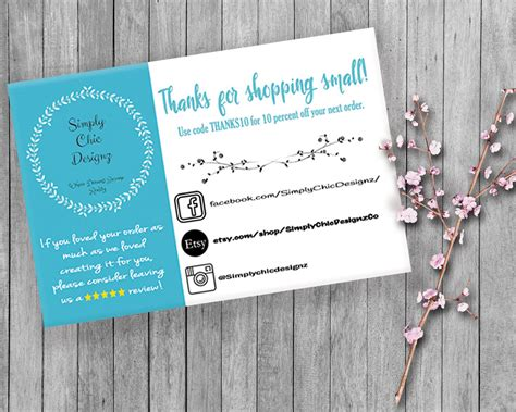 etsy pattern website review social media cards etsy review cards etsy thank you