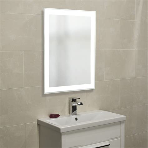 bathroom mirrors roper status designer illuminated bathroom mirror 600mm mlb280
