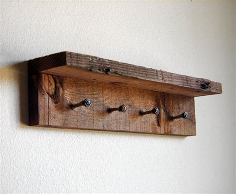 wood key rack rustic key rack key hanger reclaimed wall hooks 17 x
