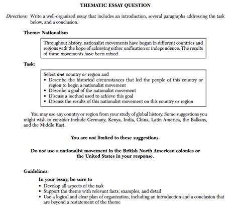 Thematic Essay Template thematic essay home