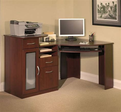 Corner Computer Desk Armoire Small Corner Armoire With Multi Functionalities