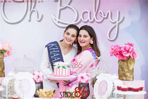 aiman khans baby shower event hd pictures  video