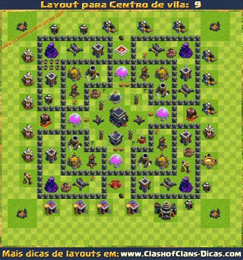 layout push cv 9 layouts de centro de vila 9 para clash of clans clash of