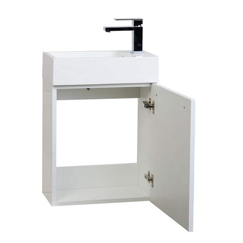 Bathroom Vanity 18 Buy 18 Inch Bathroom Vanity Set Glossy White Tn T460 Hgw Tn T460 Go On Conceptbaths