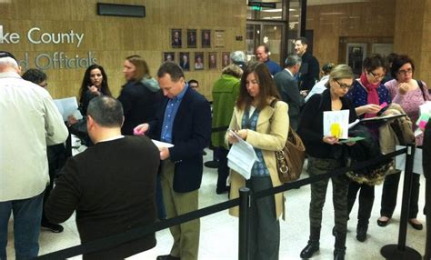 Lake County Clerk S Office by Candidates Line Up To Get On Ballot In Lake County