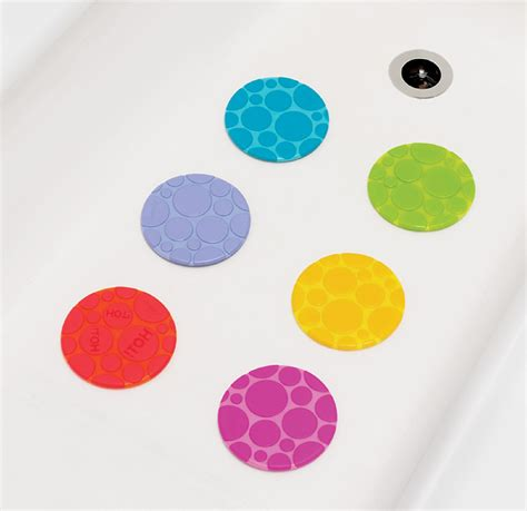 bathtub stickers non skid munchkin non slip bath dots 6 pack