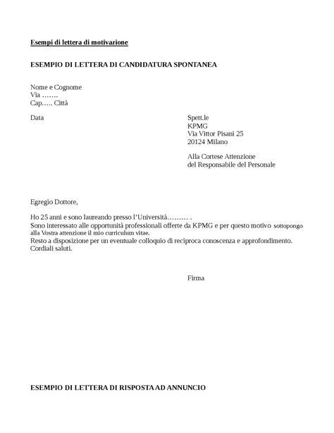 lettere di dimissioni esempio elegante lettera motivazionale esempio bocconi layout