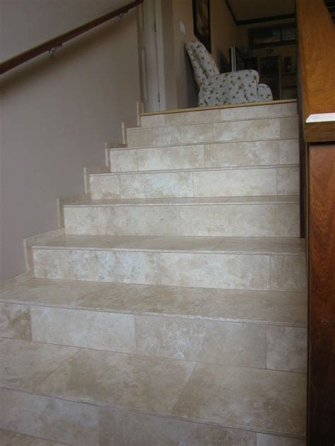 ceramic porcelian stone tile floors and stairs
