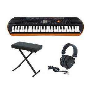 Bench Apparel Casio Sa 76 Keyboard With Bench And Headphones Musician