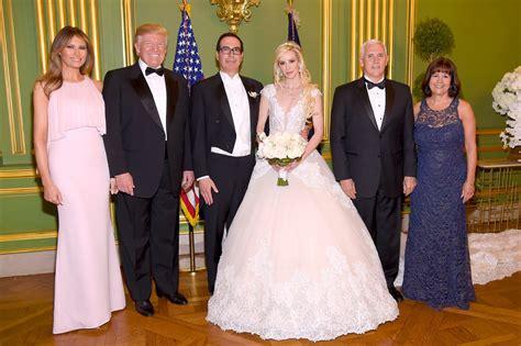 donald trump zyciorys donald and melania trump attend steven mnuchin s wedding