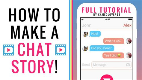 how to make story how to make a chat story text story via the texting