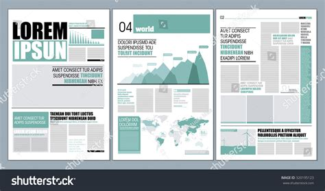 modern layout newspaper layout with indesign