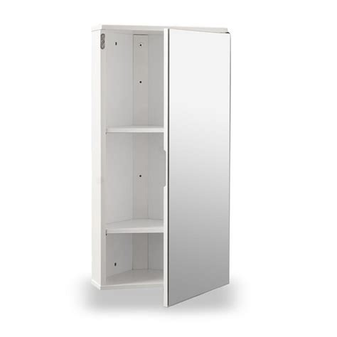 Corner Bathroom Furniture White Gloss Corner Bathroom Wall Cabinet At Home