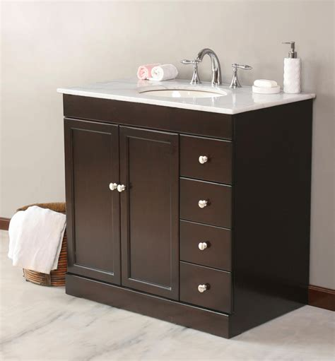 Bathroom Vanity Cabinets With Tops Bathroom Vanities With Tops Choosing The Right Countertop Material Traba Homes