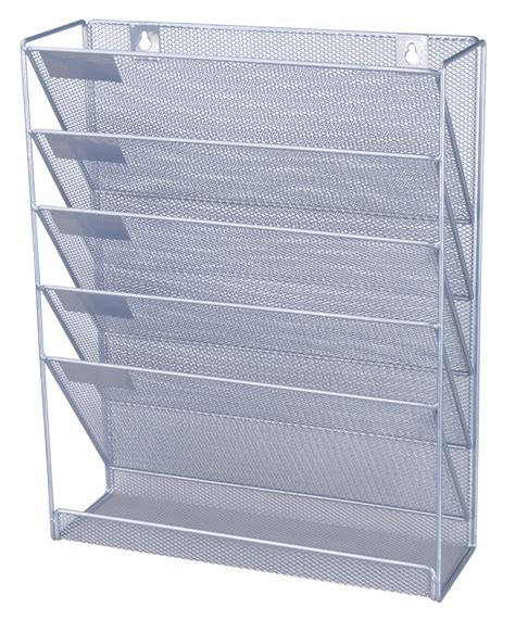 paper rack office files organizer magazine storage rack wall mounted