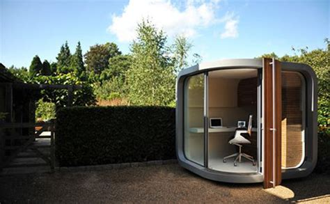 backyard home office officepod a high tech garden shed inhabitat green