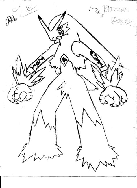 pokemon coloring pages mega blaziken blaziken colouring pages