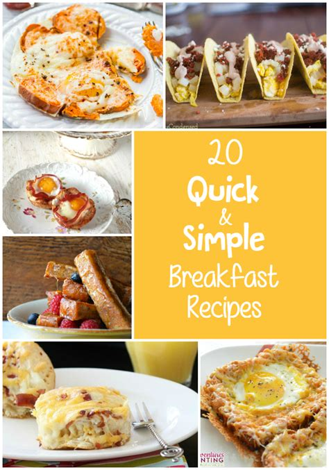 20 quick and simple breakfast recipes the craftiest couple