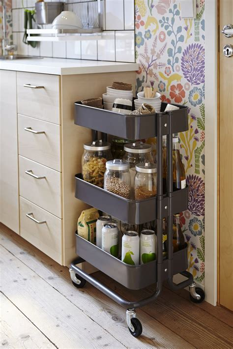 ikea kitchen storage ideas picture of smart ways to use ikea raskog cart for home storage