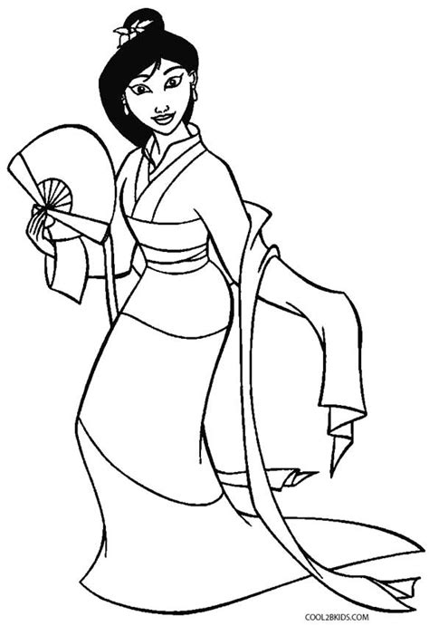 princess mulan coloring page printable mulan coloring pages for kids cool2bkids