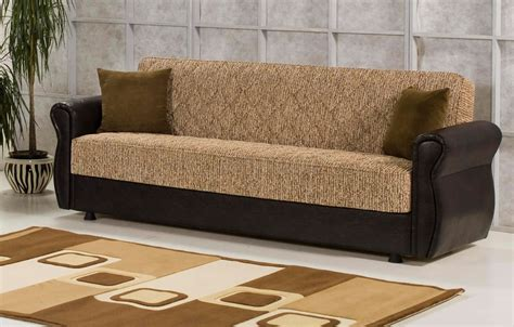 legend brown chenille modern sofa bed w optional items