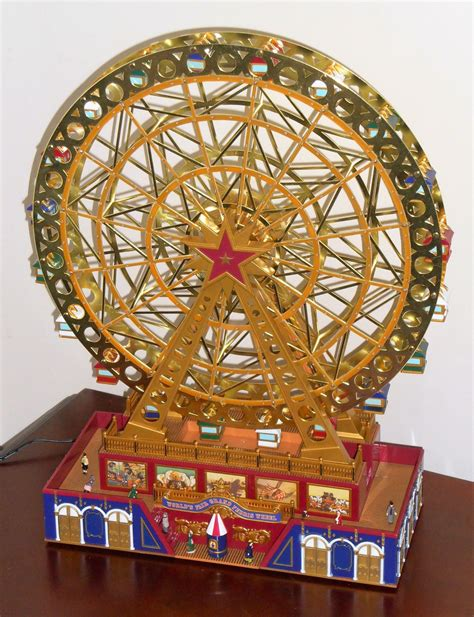mr christmas world s fair grand ferris wheel holiday model