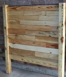 Pallet Wood Headboard Diy Pallet Sized Headboard Pallet Furniture Plans