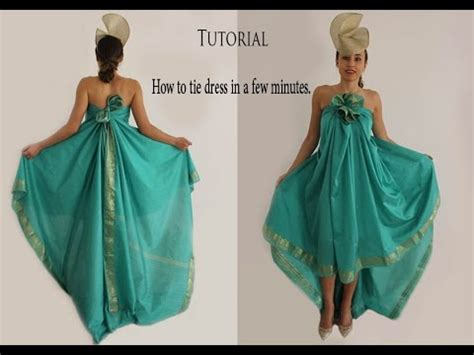 How To Make A Dress Out Of Wrapping Paper - tutorial how to tie dress in a few minutes no sew no