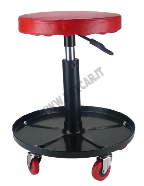 sgabello regolabile in altezza sgabello girevole con rotelle e regolabile in altezza foxcar