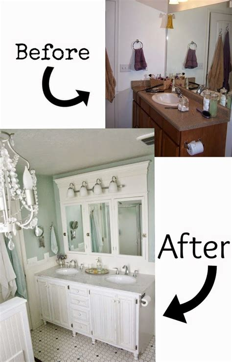 Diy Bathroom Vanity Makeover Pneumatic Addict 7 Best Diy Bathroom Vanity Makeovers I Like All The Wood And Crown Molding