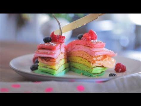 membuat pancake rainbow video resep membuat rainbow pancake resep masakan