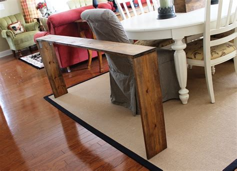 diy behind the couch table easy diy sofa table brass and whatnots