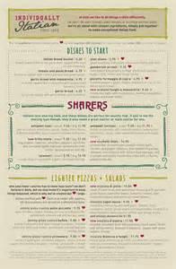 art of the menu zizzi
