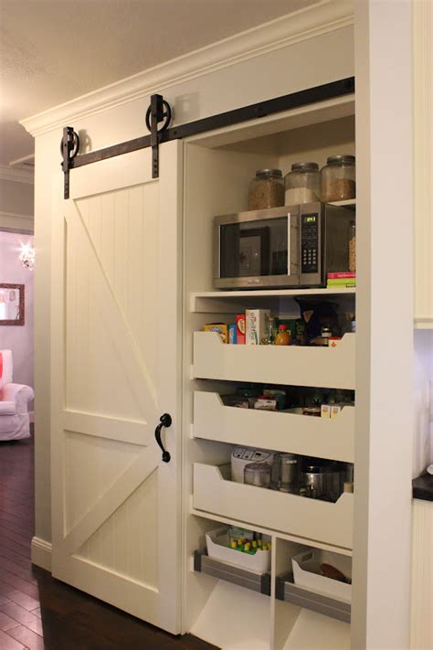 Shallow Pantry by A Tree Lined The Barn Door Pantry