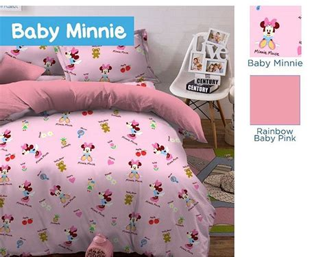 Kain Sprei Meteran Baby Trivia detail produk sprei dan bedcover baby minnie pink toko bunda
