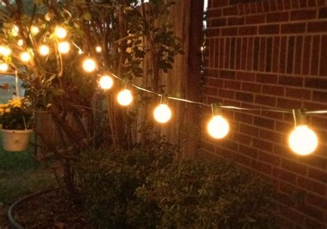 string lights backyard decorating with string lights rubbish redeemed