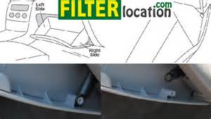 where is located toyota matrix cabin air filter
