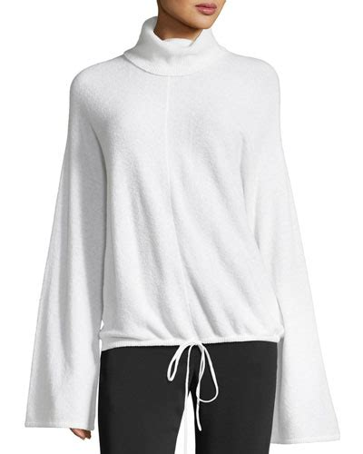 Bell Sleeve Wool Blend Knit Top s turtleneck sweaters at neiman