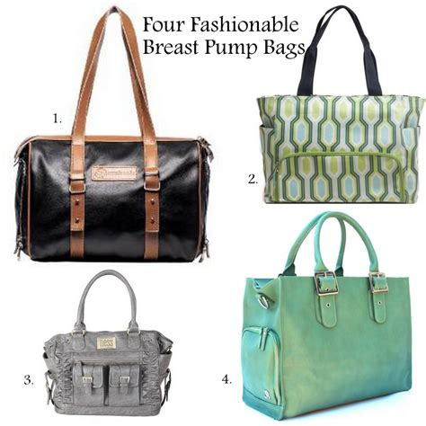 four fashionable breast pump bags