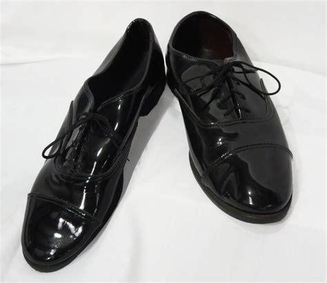size 8 mens black cap toe lace up oxfords tuxedo shoe