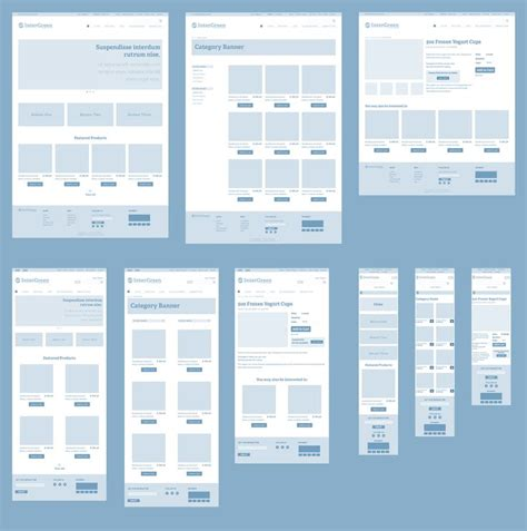 Screen Layout Design Exles | responsive wireframes high level exle of how a page