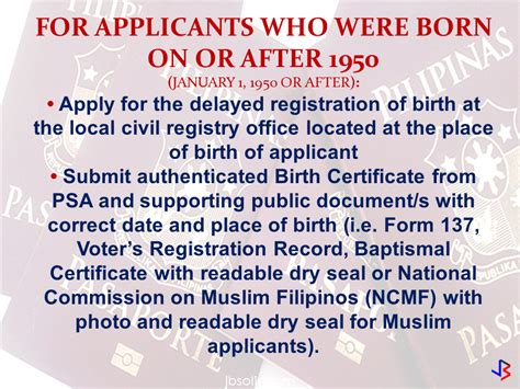 Philippines Birth Records No Birth Records No Worries Here Is What You Need To Do