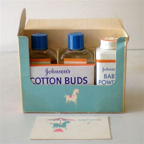 gift box johnsons 1950s johnson s baby items in original gift box from