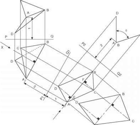 pattern development drawing true lengths and auxiliary views engineering drawing