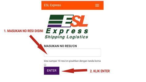 cek resi jasa pengiriman esl express mudah  akurat